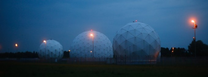 A general view of the large former monitoring base of the U.S. intelligence organization National Security Agency (NSA) during break of dawn in Bad Aibling south of Munich, July 11, 2013. Chancellor Angela Merkel has defended Germany's cooperation with U.S. intelligence, dismissing comparisons of its techniques to those used in communist East Germany in an attempt to ease tensions a day before talks on the thorny issue in Washington.   REUTERS/Michael Dalder