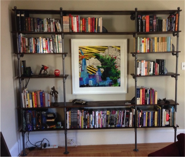 DIY pipe-and-wood shelves / Boing Boing