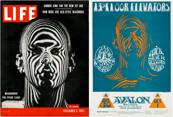 "The Zebra Man poster is one of the most psychedelic in rock, but its source is taken from a photograph by Ralph Morse, whose December 6, 1954 cover story for LIFE called ""Jet Age Man"" explored how high-tech was being used to train and equip the men who flew B-47 bombers."