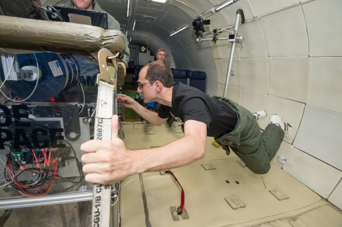 Engineers test the Made in Space printer on a Zero Gravity Corp. airplane. Photo: Made in Space