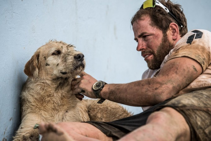 Swedish endurance athlete Mikael Lindnord managed to get Arthur, a dog his team befriended in Ecuador, to come home with him. Krister Goransson/Peak Performance via NPR.org.