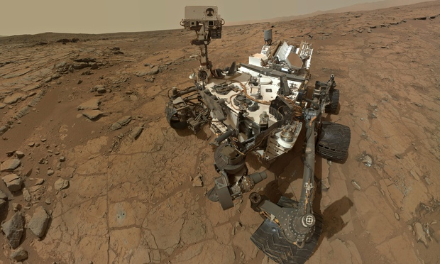 Nasa's Curiosity rover found methane at about 1 part per billion in the atmosphere of Mars. That's 4,000 times less than in the air on our own planet. Gotta be all the farts. Photograph: Nasa/JPL-Caltech/MSSS/EPA
