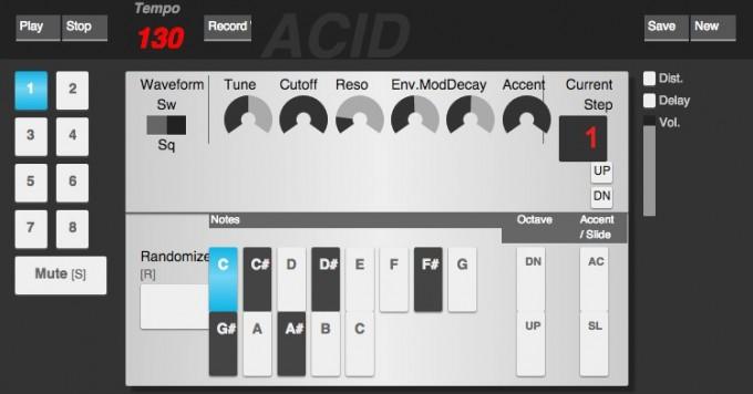 Acid music creator