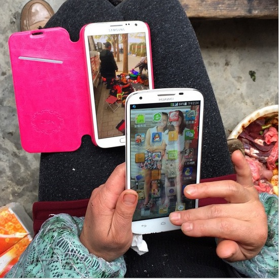 Tricia Wang two phones