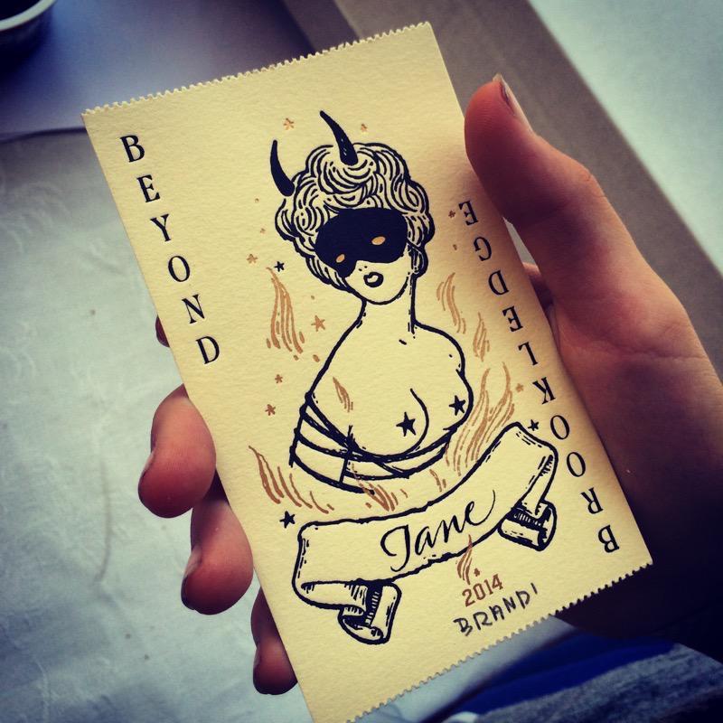 Ticket badge designed by Brandi Milne