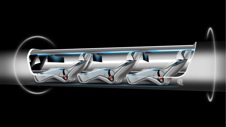 A cutaway shows passengers inside a Hyperloop passenger capsule. Image: Elon Musk / Tesla Motors / SpaceX