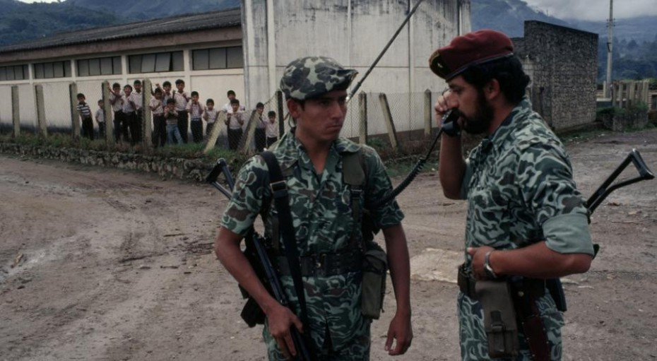 "A photograph of ""Major Tito,"" now better known as Guatemalan President Otto Perez Molina."