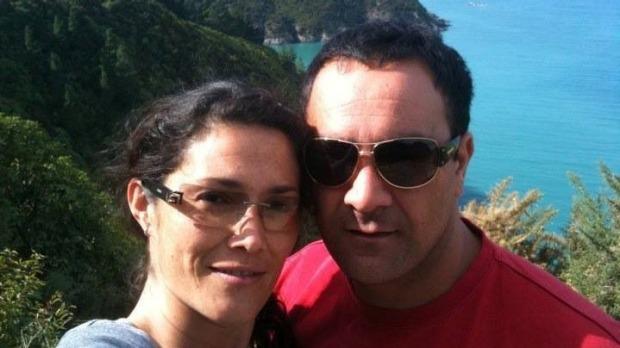 Jennifer Lougee Mingramm with husband Tamaha MacDonald.