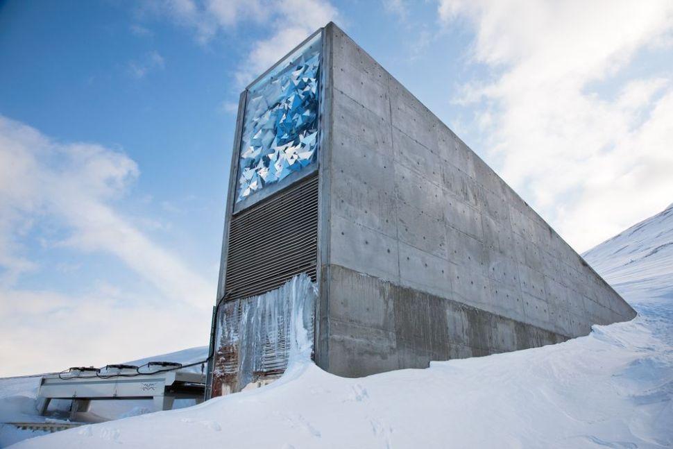 Svalbard seed vault exterior