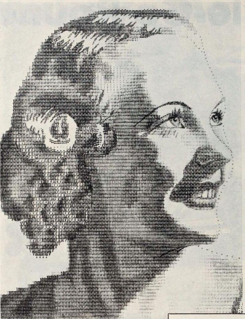 Typewriter Artist : typewriter, artist, Typewriter, Portraiture,, Strange, Story, 1920s, ASCII, Boing