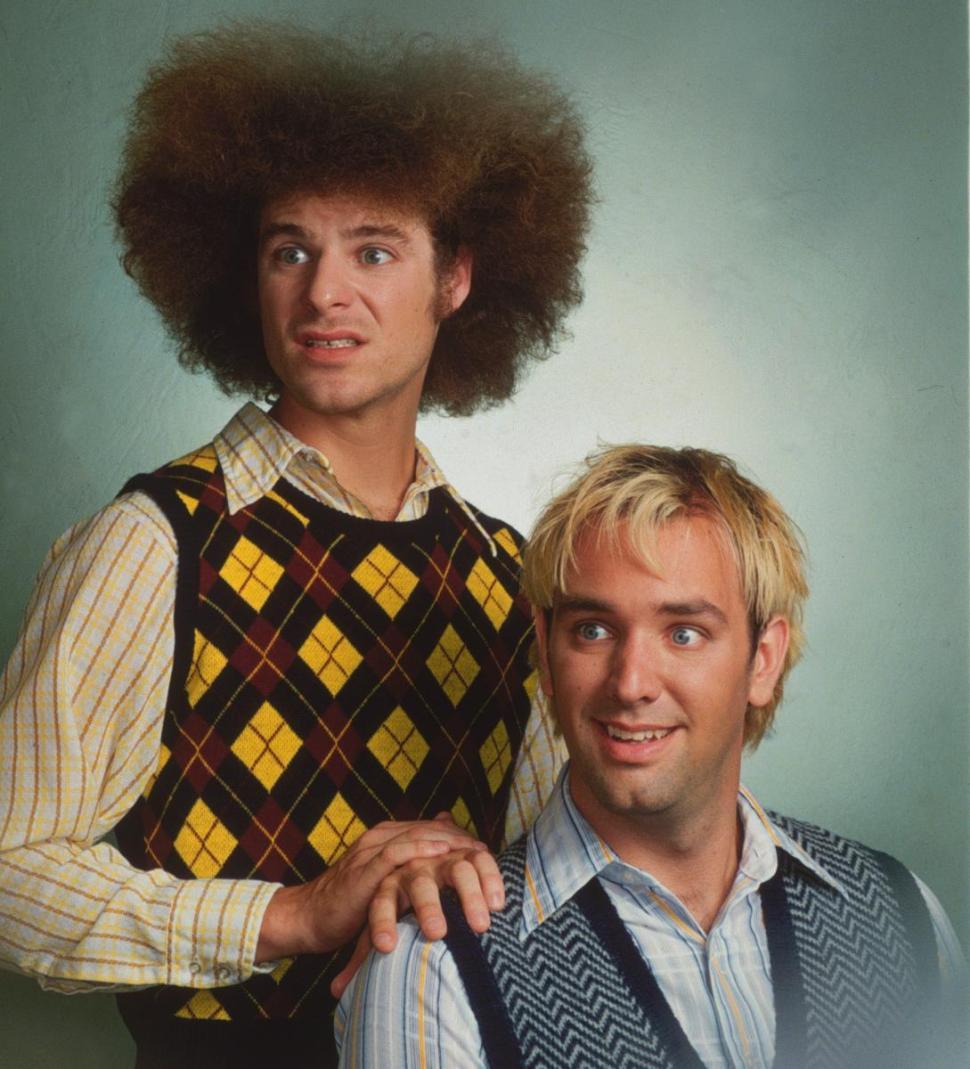 Matt Stone and Trey Parker. A Comedy Central photo shot many years ago.