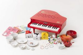Montage of Goods with Schroeder's Piano