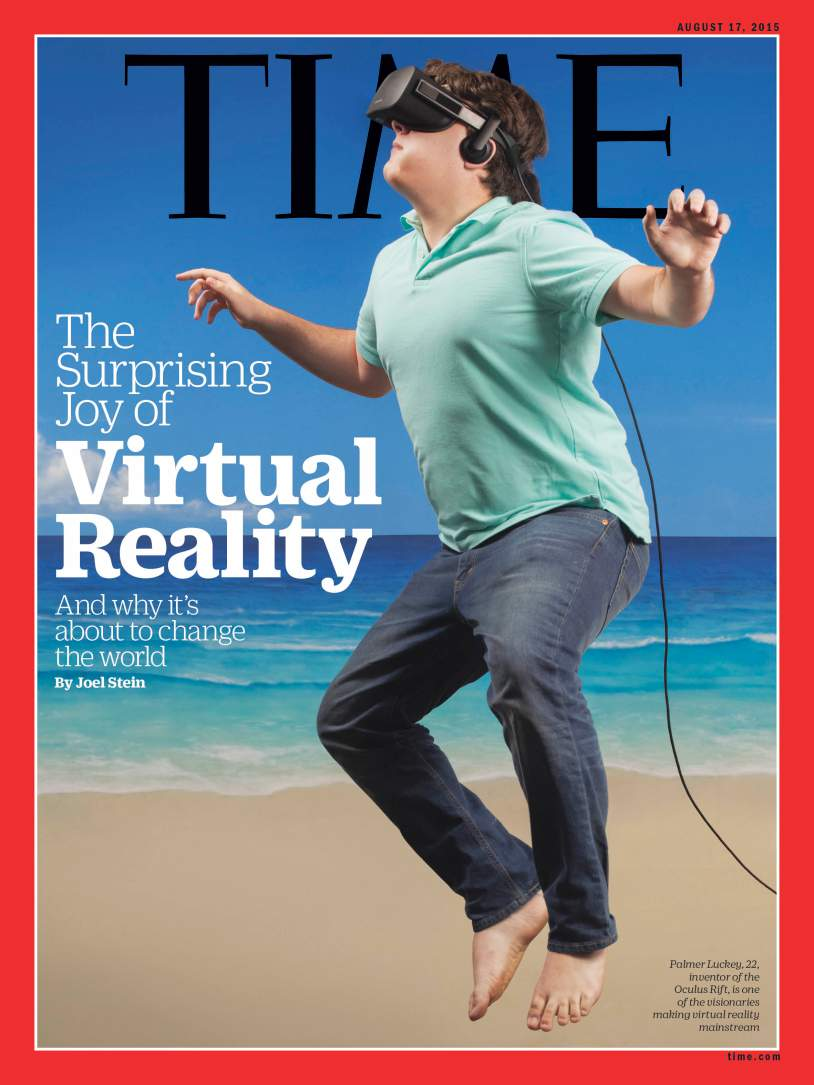 Palmer Luckey on the cover of TIME.