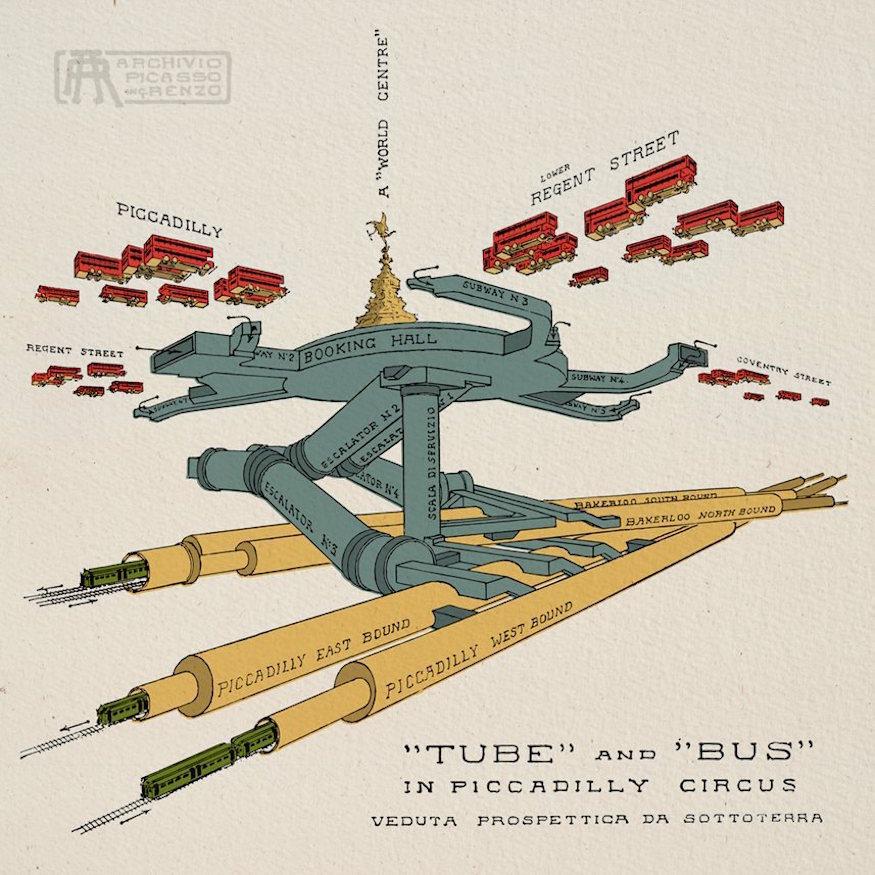 London's amazing underground infrastructure revealed in vintage cutaway maps