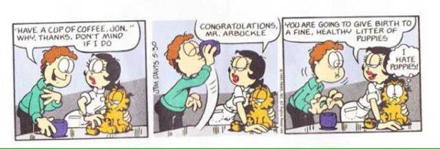 Garfield Cartoonist Denies Jon Drinks A Cup Of Dog Semen In Comic Strip Boing Boing