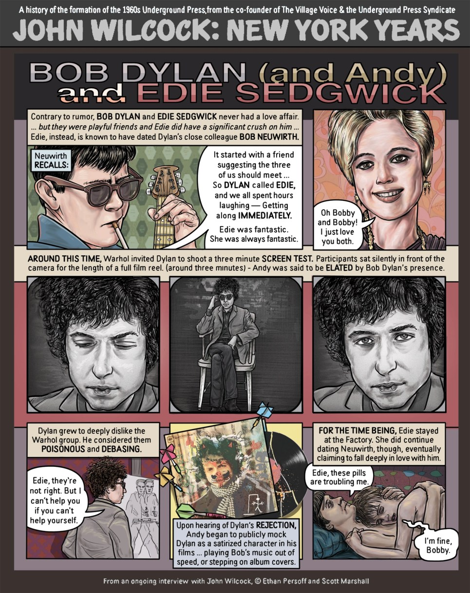Bob Dylan and Edie Sedgwick by Ethan Persoff and Scott Marshall