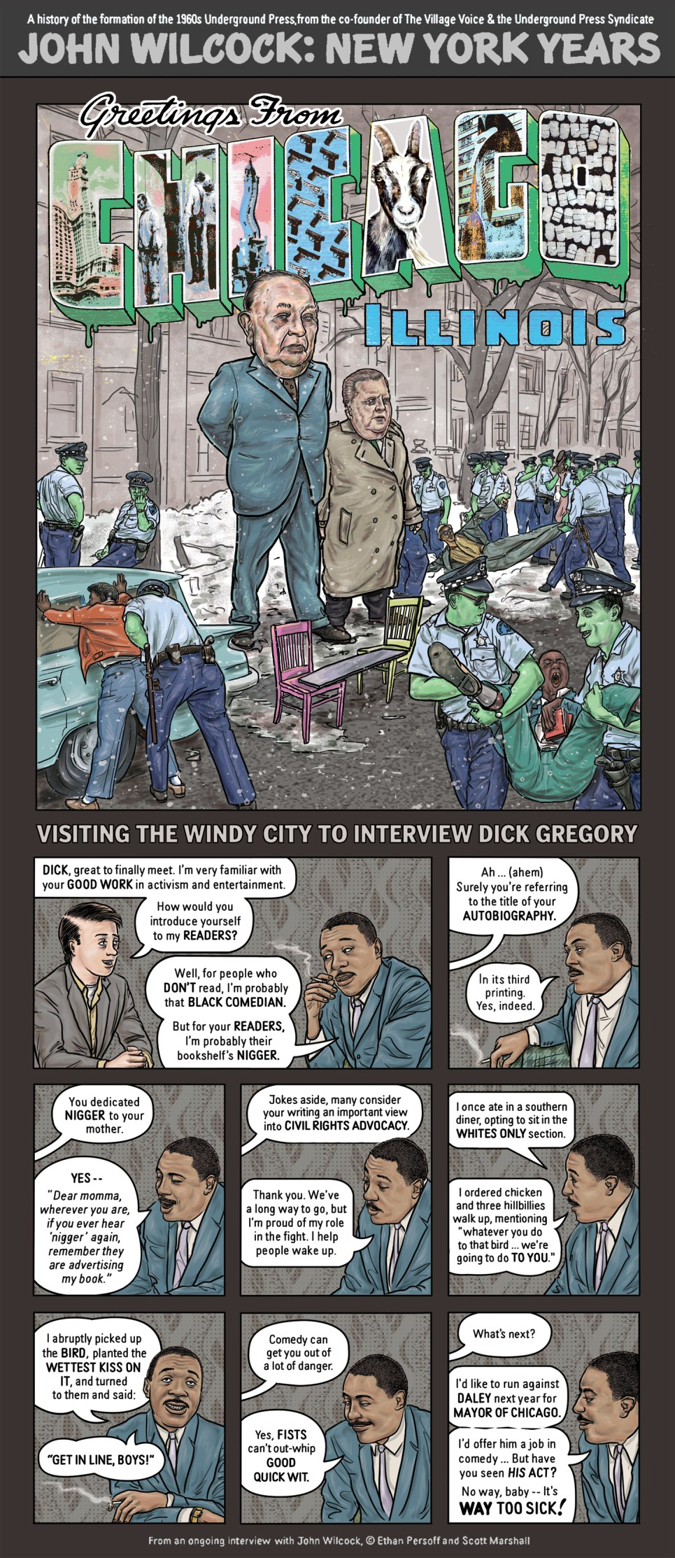 Dick Gregory by Ethan Persoff and Scott Marshall