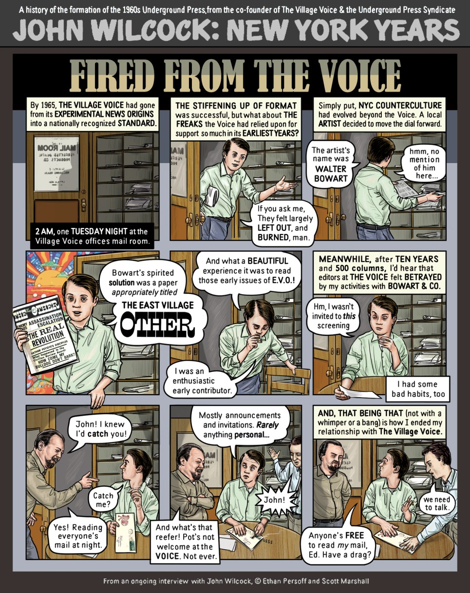 John Wilcock fired by the Village Voice by Ethan Persoff and Scott Marshall