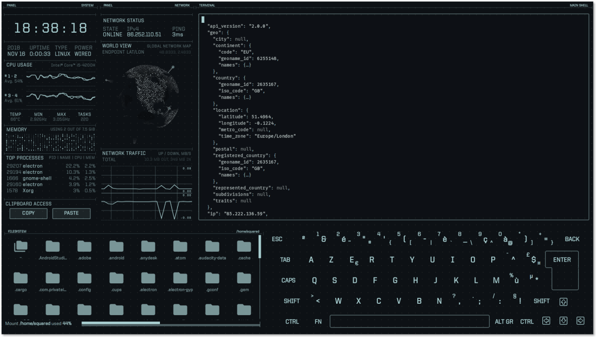 A science-fiction-inspired desktop UI for your Lin/Win/Mac system | Boing Boing