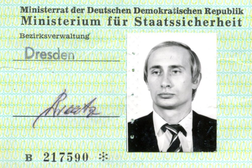 Vladimir Putin S Old Stasi Id Card Discovered Boing Boing