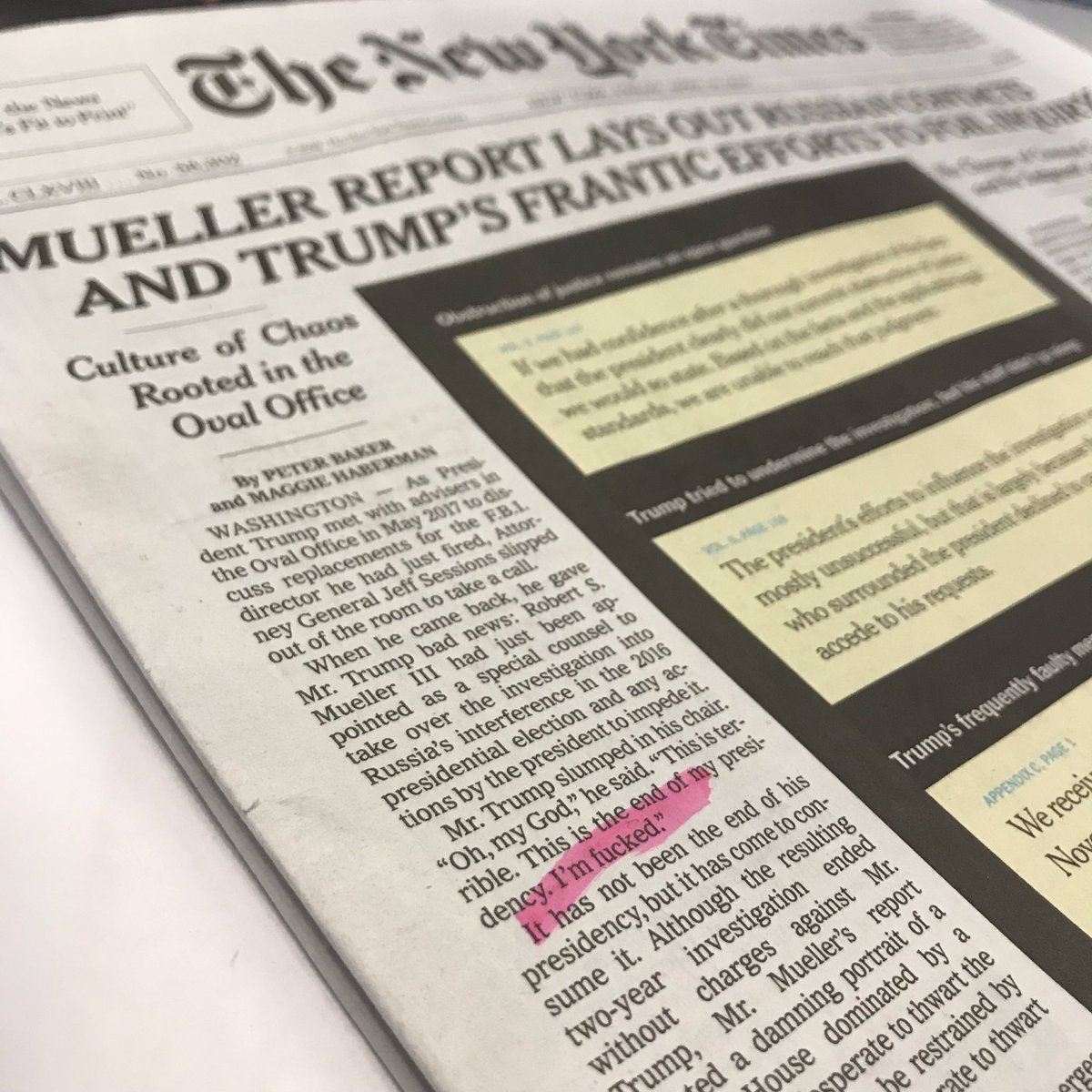 boingboing.net - Xeni Jardin - New York Times prints 'I'm fucked' on front page
