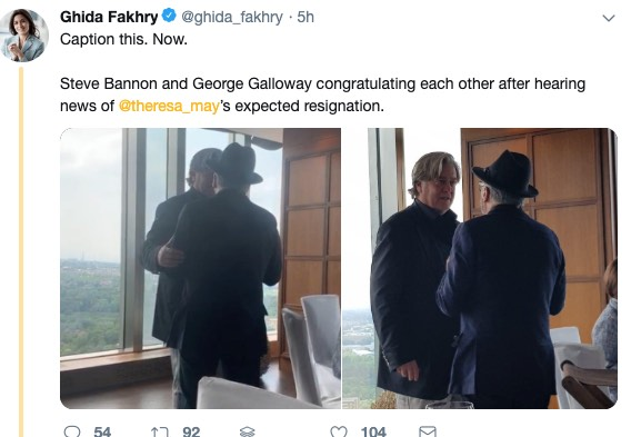 What's Steve Bannon up to? Stoking race war in Paris, hugging RT's George  Galloway in Kazakhstan | Boing Boing