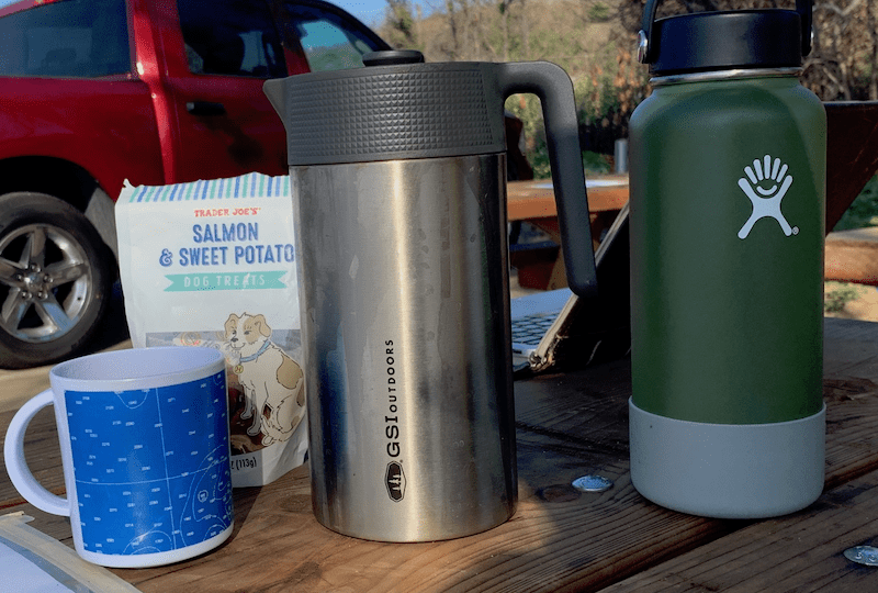 GSI Outdoors Glacier Stainless JavaPress 30oz Camping French Press