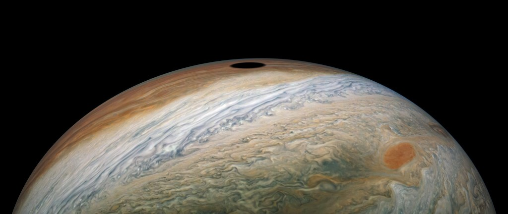 Solar eclipse on Jupiter