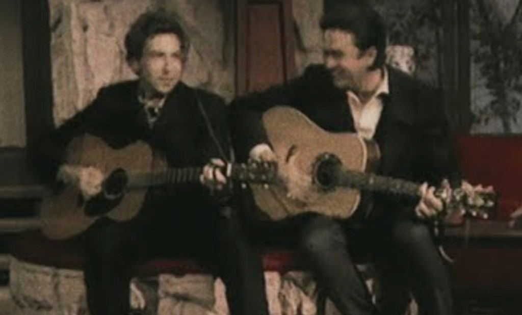 Listen to this killer unreleased recording of Johnny Cash and Bob Dylan