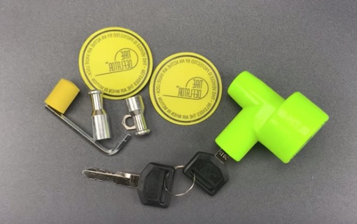 Picking the lock on a weird tire-deflating anti-car theft device