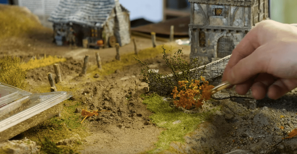 Creating realistic vegetation for a tabletop gaming board | Boing Boing