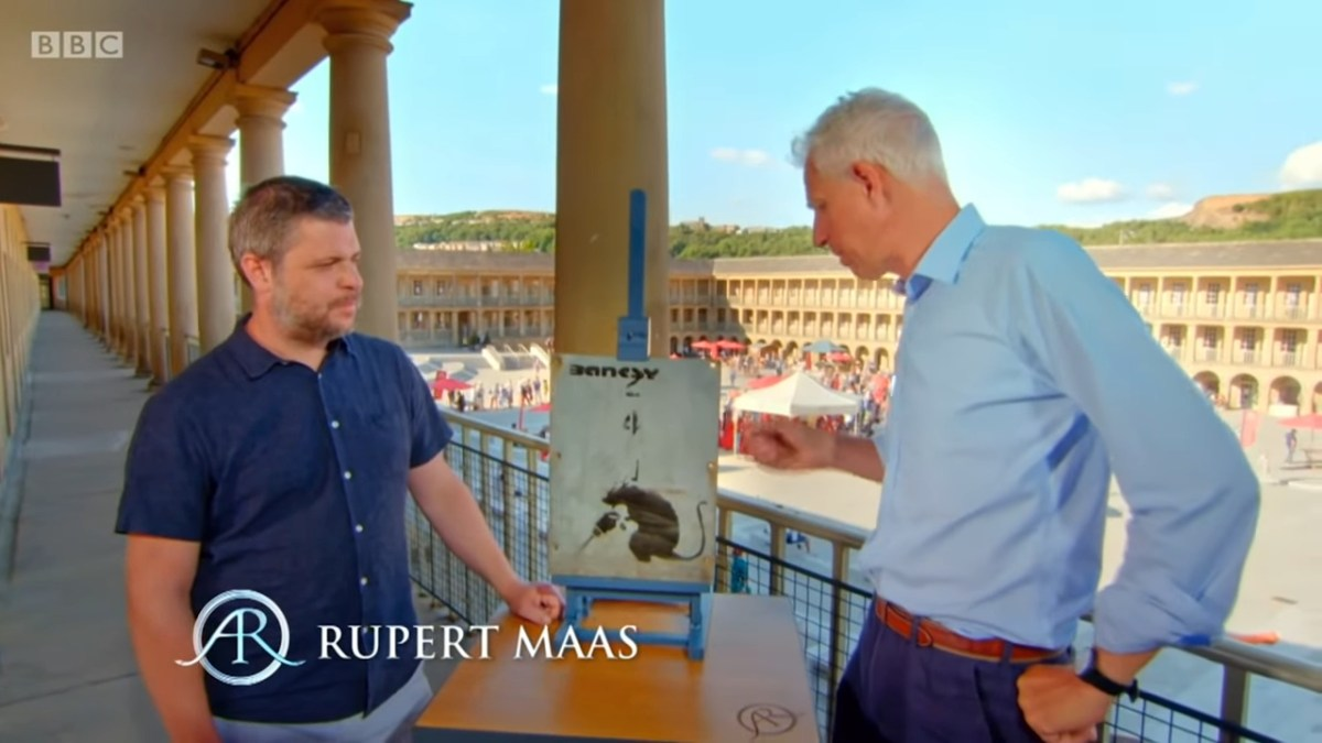 On Antiques Roadshow, guy learns stolen Banksy is essentially worthless | Boing Boing