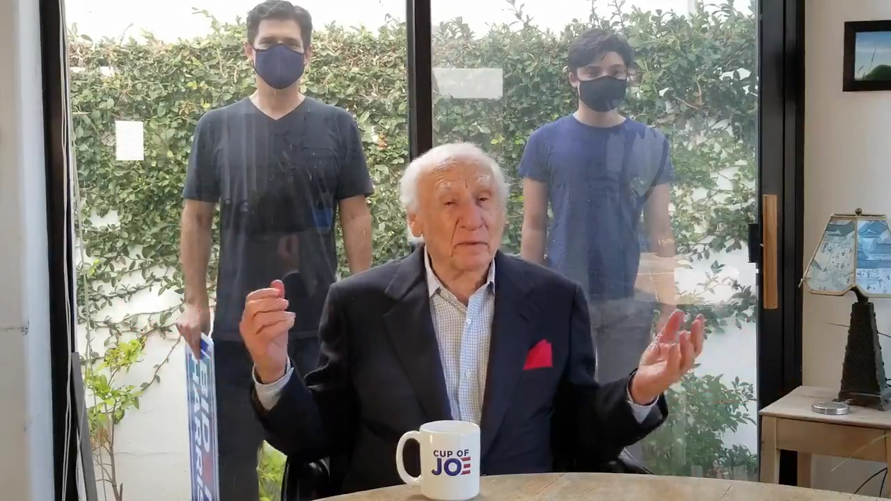 Mel Brooks appears in his first political video: 'Vote For Joe'