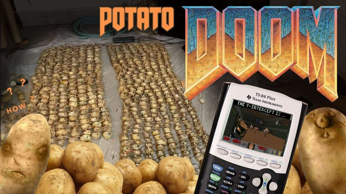 How to power your calculator with potatoes so you can play DOOM | Boing Boing