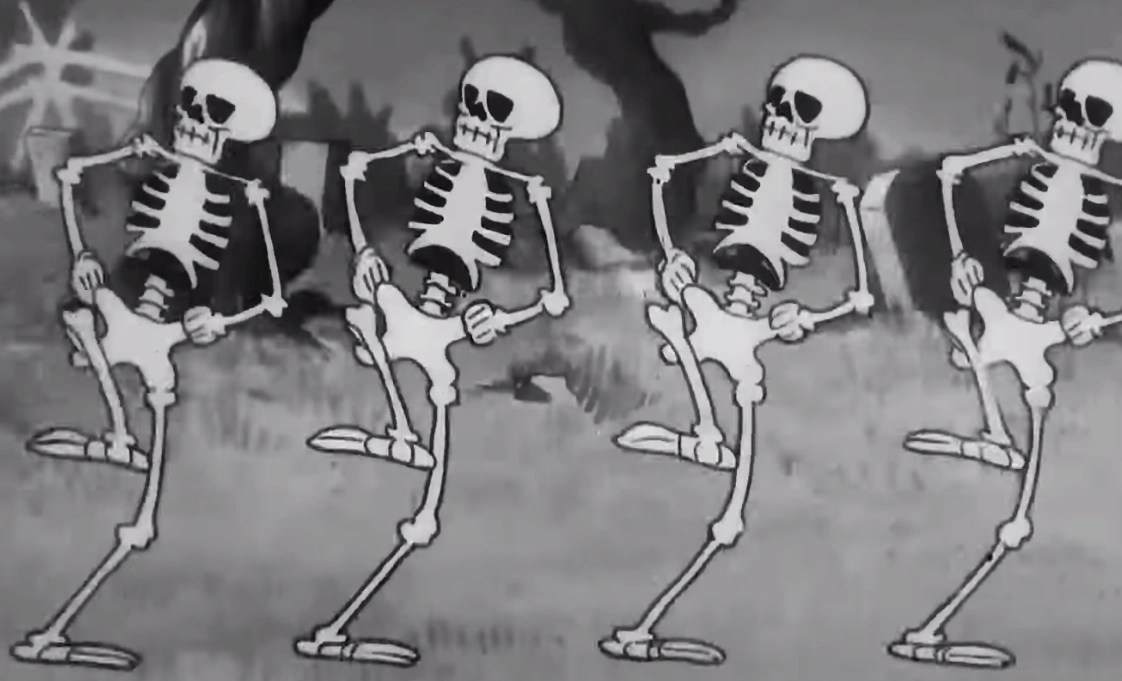 """Watch a 4K remaster of the timeless """"Skeleton Dance"""" cartoon from 1929 