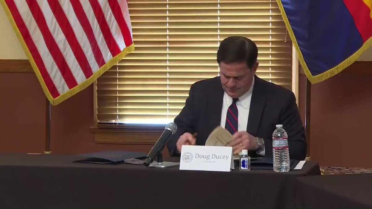 Arizona's Gov. Ducey will get back to you