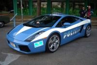 Photo of a Lamborghini owned by the Italian police