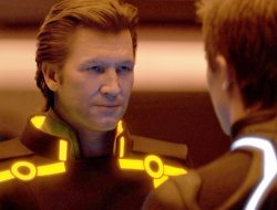 CGI version of a young Jeff Bridges in Tron