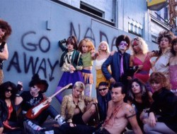 80s punks including Lee Ving hang out on a corner