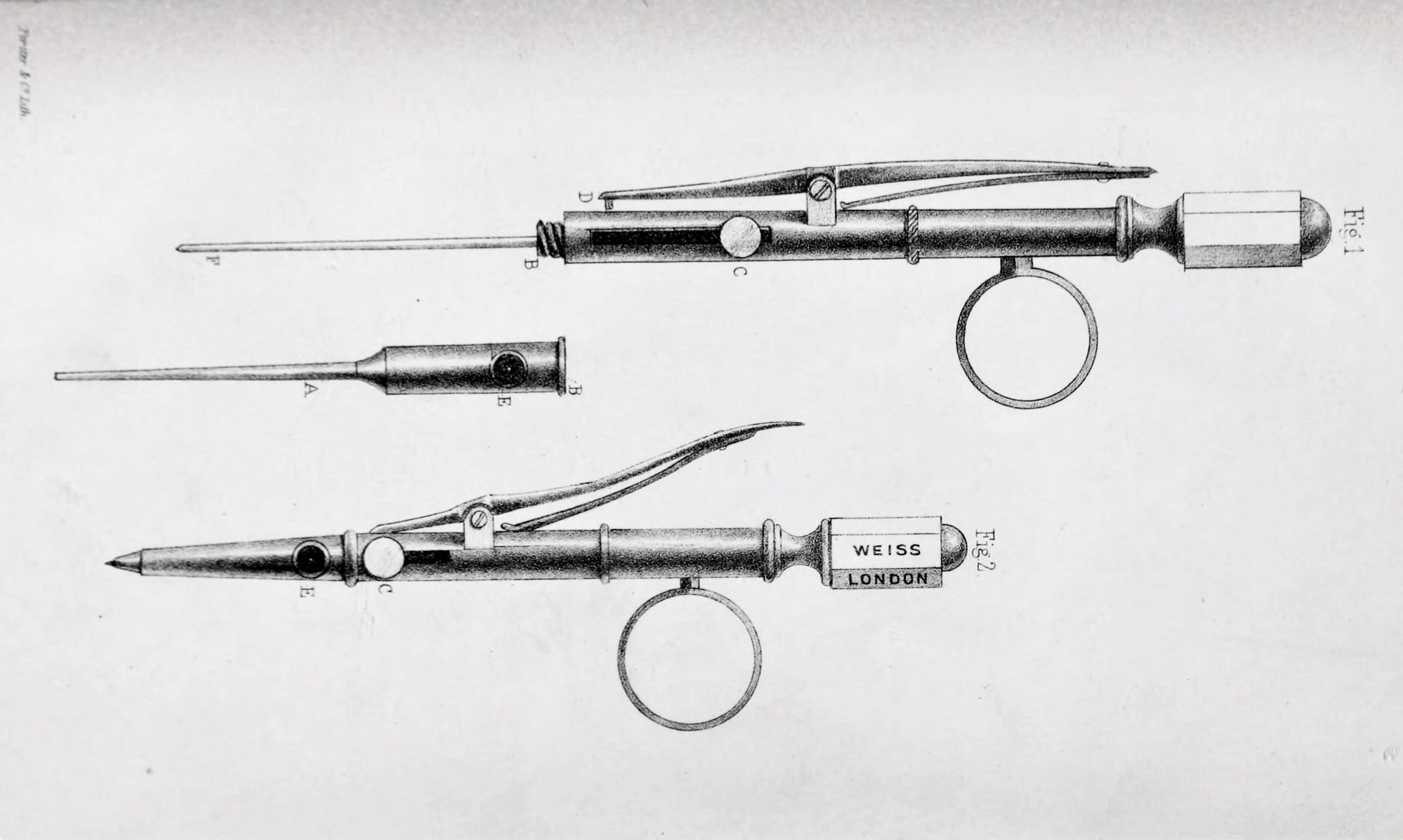 The first hypodermic needle