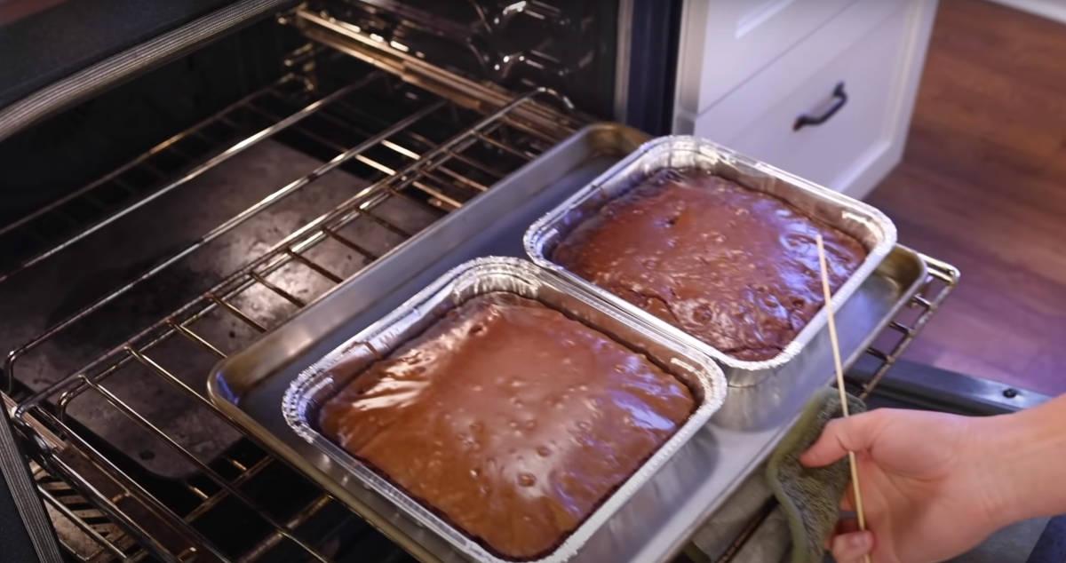 Screenshot of brownies in YouTube video
