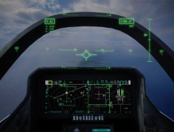 View of the touchscreen and helmet display in the Joint Strike Fighter