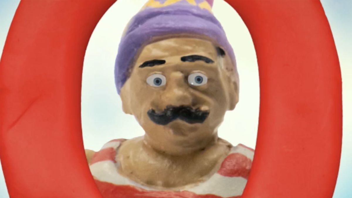 Stop motion man with mustache