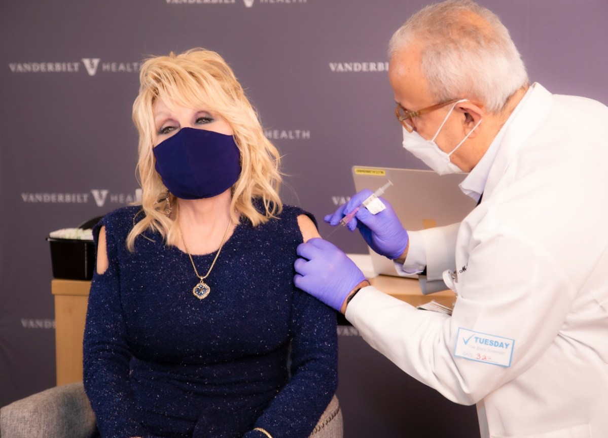 Dolly Parton gets the vaccine she helped to fund | Boing Boing