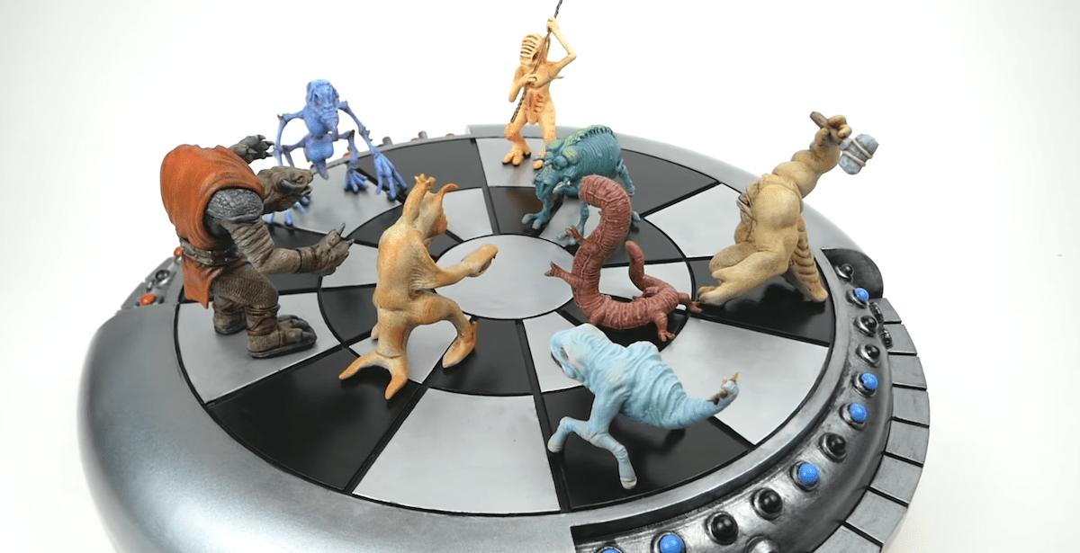 3D printing and painting a Star Wars Dejarik Holochess set