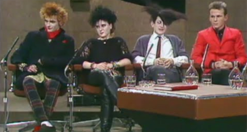 A punk, two goths, and a mod interviewed on an Irish TV talk show (1983) | Boing Boing