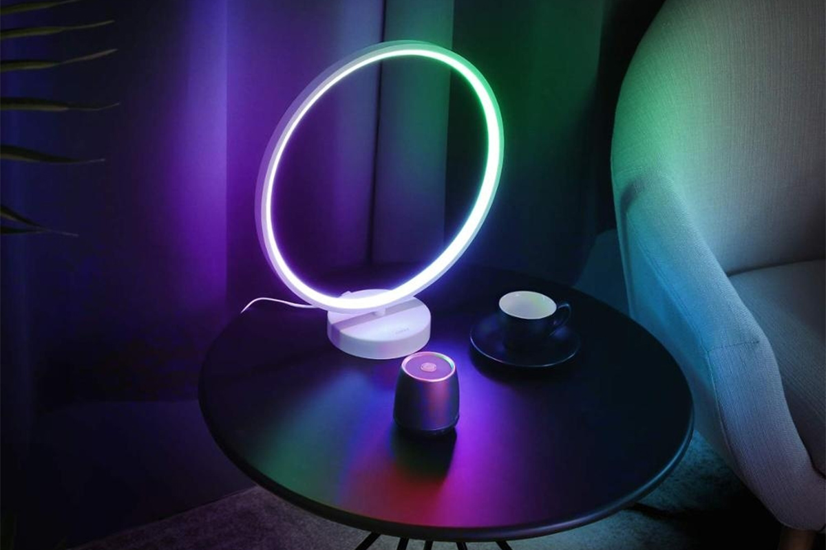 This Circular Led Table Lamp Is Eye Poppingly Cool And Can Reset The Mood In Any Room Boing Boing