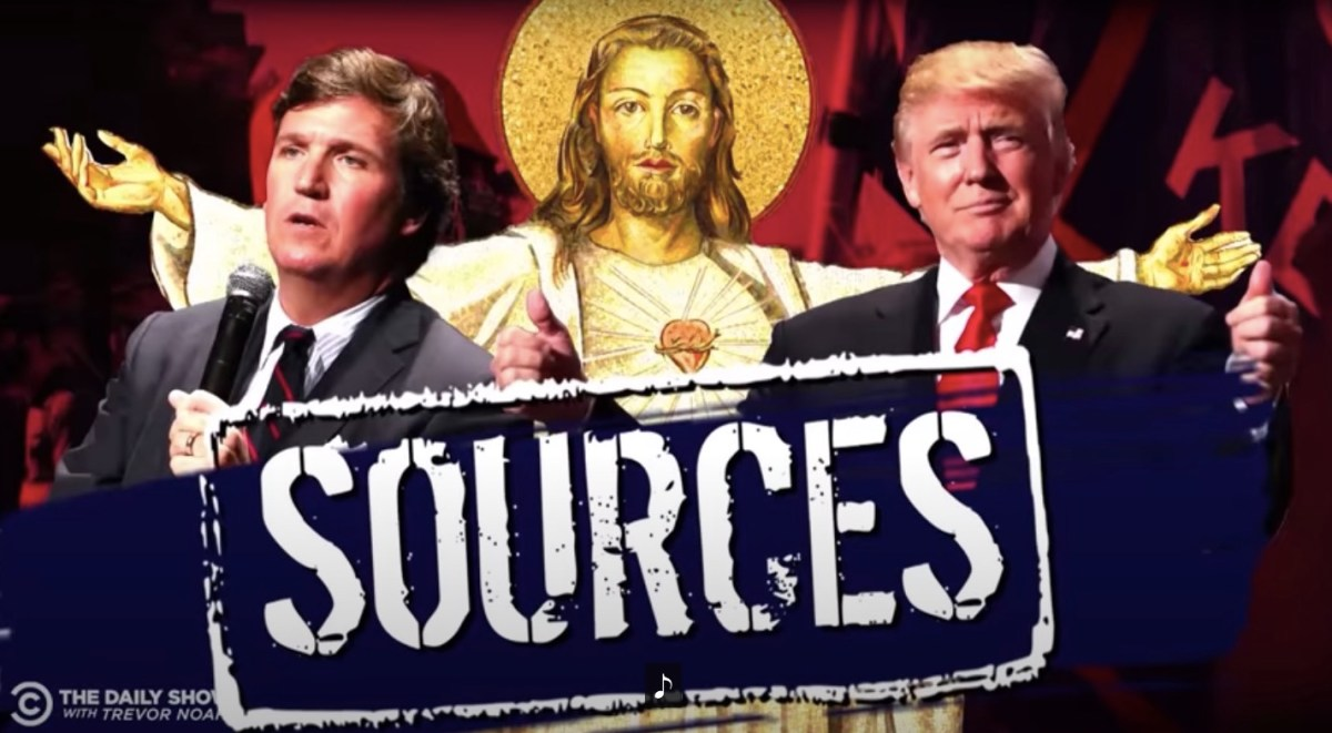 Watch: MAGA folks now against Fox, getting all their facts from Tucker Carlson, Trump and Jesus | Boing Boing