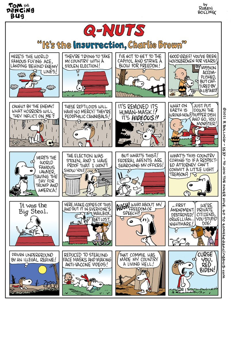 """Q-Nuts: """"It's the Insurrection, Charlie Brown"""" 