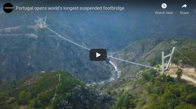 Portugal just opened the world's longest suspended footbridge, and it's not for people afraid of heights | Boing Boing
